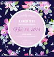 Floral invitation greeting card template