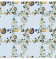 flower branch blue background vector image vector image