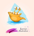 funny cute crazy animal characters vector image