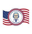 george washingtons birthday waving flag united vector image vector image