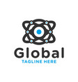 global circle technology modern logo vector image