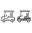 golf car line and glyph icon automobile and sport vector image