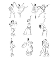 Hand drawn dance icons vector image