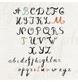 Handwritten brush style calligraphy font vector image