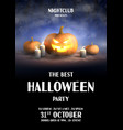 happy halloween holiday party flyer vector image vector image