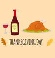 happy thanksgiving day turkey design holiday fresh vector image vector image