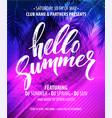 Hello summer party flyer design
