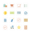 Icon Shopping vector image