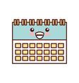 kawaii calendar business date appointment cartoon vector image