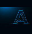 letter a low poly design alphabet abstract vector image vector image