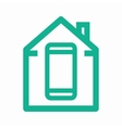 logo combination a house and phone vector image