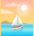 modern yacht marine nautical personal boat icon vector image vector image