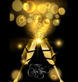 new year gold party drink 3d toast greeting card vector image vector image