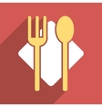 Nutrition Flat Long Shadow Square Icon vector image vector image