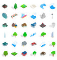 ocean icons set isometric style vector image vector image