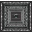 Ornamental square borders set on chalkboard vector image vector image