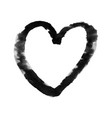 painted heart symbol love valentines day element vector image
