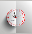 paper clock - analog time symbol vector image vector image