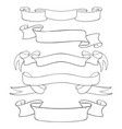 paper scrolls outline set of vector image vector image