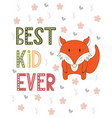 poster in scandinavian style with cute animals vector image vector image