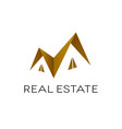 real estate logo design roof shape isolated vector image