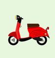 red city scooter vector image