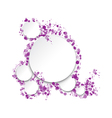 round frame for text vector image vector image