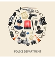 Round Police Composition vector image vector image