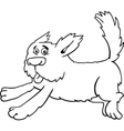 running shaggy dog cartoon for coloring vector image vector image