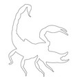 scorpio outline icon eps vector image