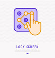 screen lock interface with hand vector image