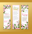 set of vertical spring banners vector image vector image