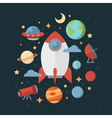 Space theme banners and cards vector image vector image
