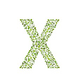 Spring green leaves eco letter X vector image vector image