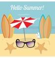 Summer surfing in the ocean beach vector image vector image