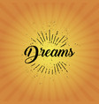 sun rays dreams vector image vector image