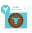 taurus signs of the zodiac lazenaya cutting it vector image vector image