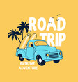 travel car and slogans vector image