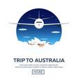trip to australia sydney travelling vector image vector image