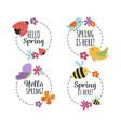 variety spring season stickers vector image vector image