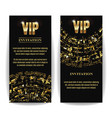 vip invitation card party premium blank vector image vector image