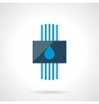 Water heating system modern flat icon vector image vector image