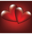 two heart vector image