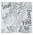 Accounting Careers in Pontypridd Word Cloud vector image vector image