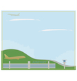 Airport in clear weather vector image vector image