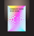 annual report brochure flyer design template vector image vector image