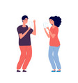 bipolar disorder fake feeling emotion woman man vector image