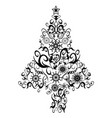 black decor xmas tree vector image vector image