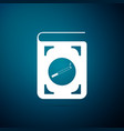 book with cigarette icon on blue background vector image vector image