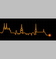 brno light streak skyline vector image vector image